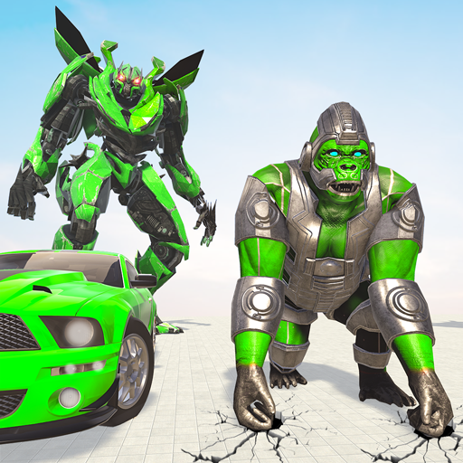 Gorilla Robot Car Game – Transform War Robot Games 1.9 APK