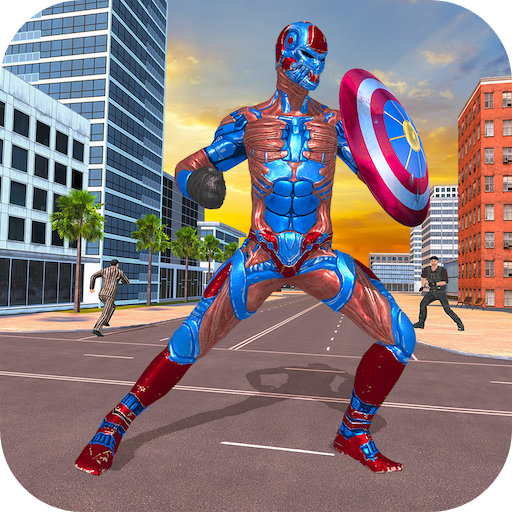 Superhero Captain Robot Games:Black Hole Rope Hero 1.9 APK