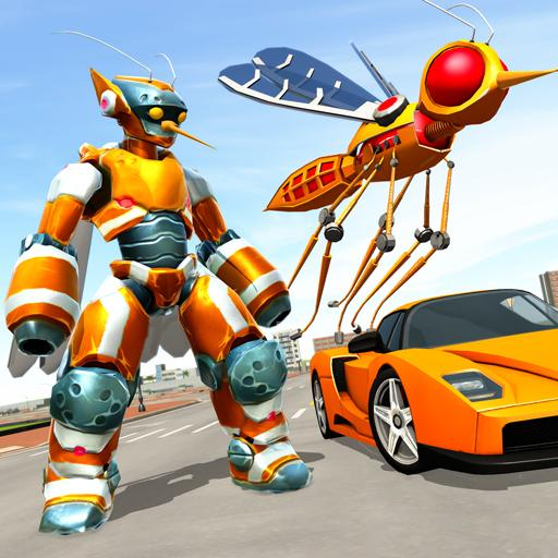 Mosquito Robot Car Game – Transforming Robot Games 1.3 APK